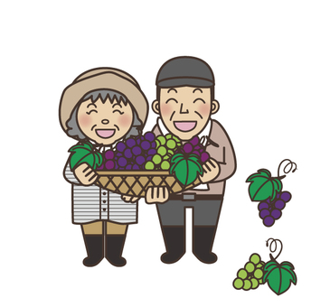A couple of grape farmers