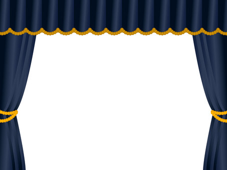 Stage curtain frame black