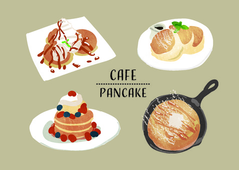 Pancake Set Watercolor