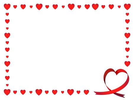 Heart ribbon decorative frame
