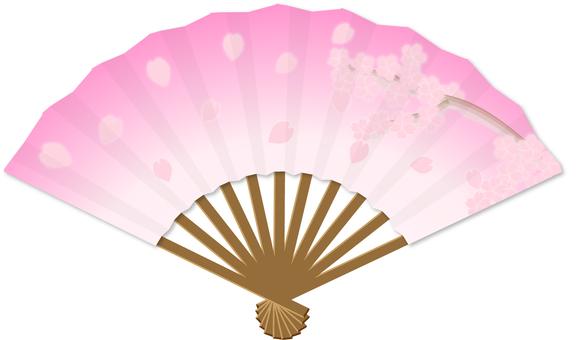 Folding fan _ Cherry