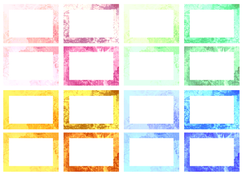 Japanese pattern dahlia frame