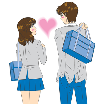 Manga picture _ couple _ student