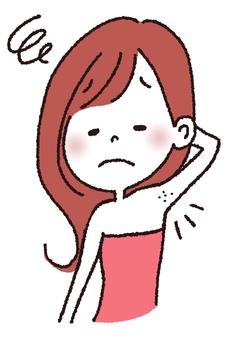 Armpit hair removal woman