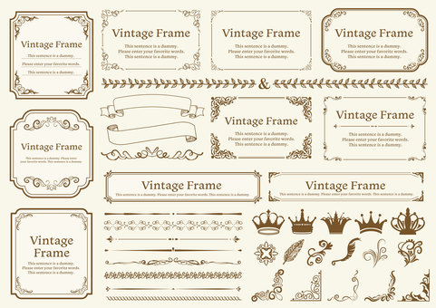 Antique material 043 frame set
