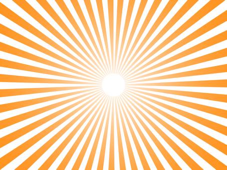 Orange radiation background material