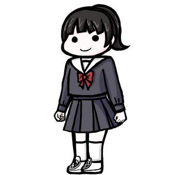中・高生セーラー服
