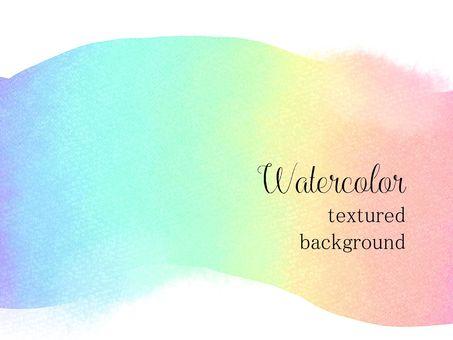 水彩風の背景素材03/虹色