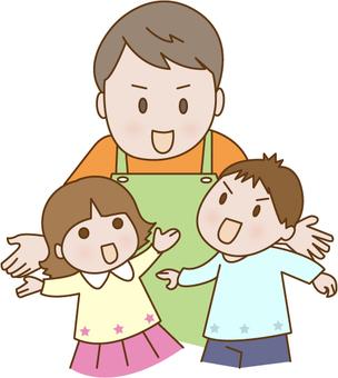 Male childcare professional