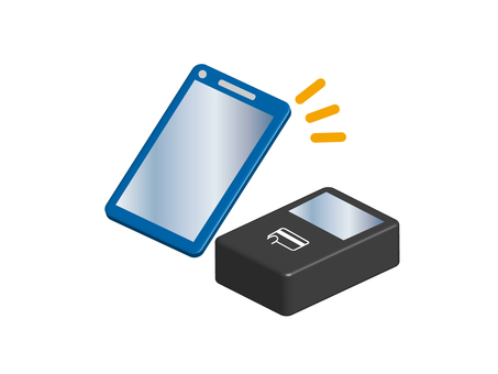 Electronic money illustration material