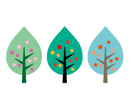 북유럽 풍 나무