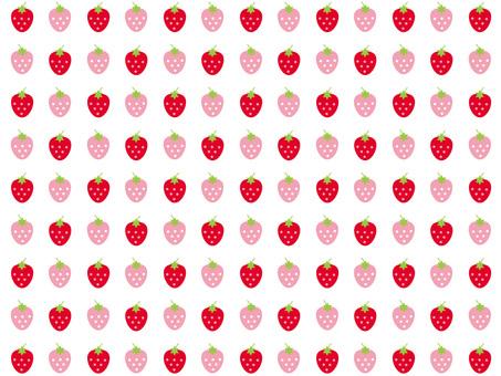 Ichigo pattern wallpaper (white)