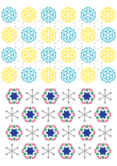 Scandinavian-like textile pattern