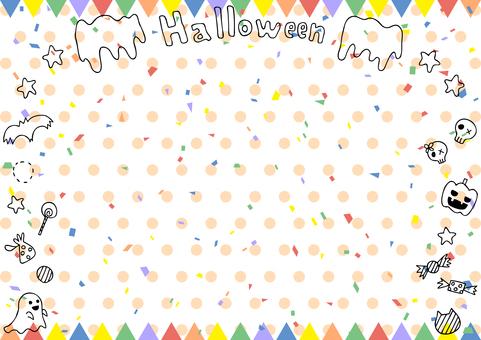 Halloween flag frame dot background