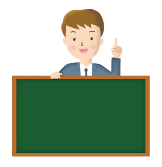 Instructor and blackboard