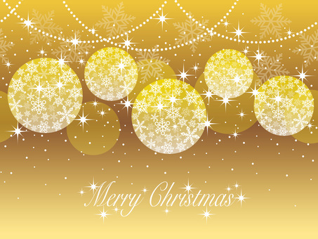 Seamless Christmas Ball Background Gold