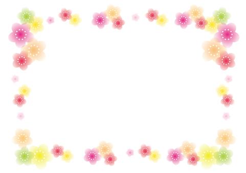 Sakura · colorful decorative frame · frame