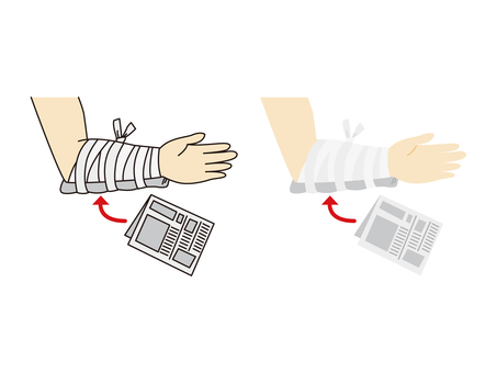 First aid using newspaper