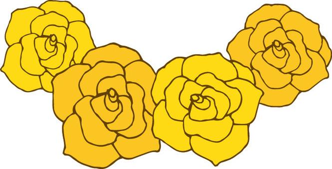 꽃 (장미 노랑 화환)