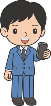 A man watching a smartphone
