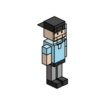 Isometric boy (ball referee)