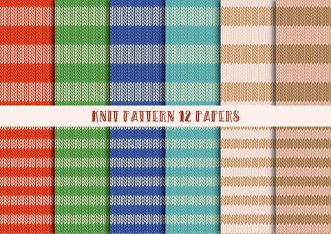 Knit Pattern Set (Stripe)