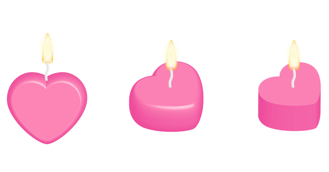 Heart shaped candle (pink)