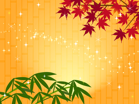 Japanese style autumn leaves background maple