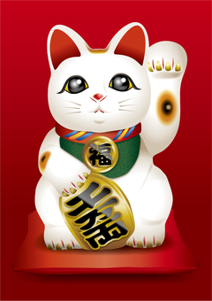 Lucky cat (left hand) 1