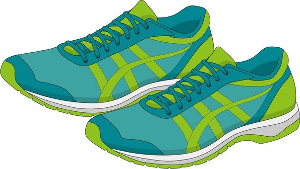 Jogging shoes green