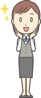 Clerk Bob woman -164 - whole body