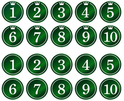 Rankings · numbers (green)