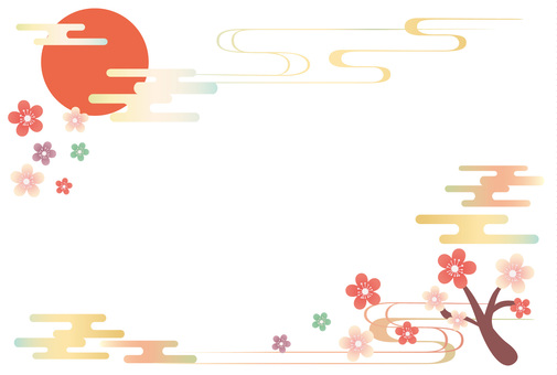 Pop-simple Japanese style Japanese New Year card
