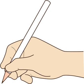Hand writing with a pencil_2