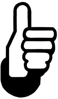 豎起大拇指標記黑色