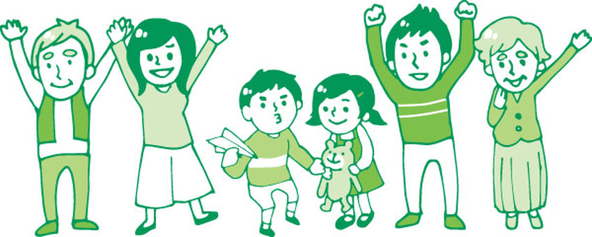 Family 1 (single color · green)