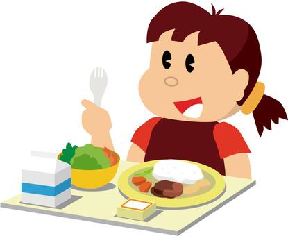孩子吃午飯