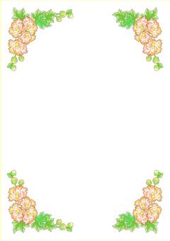 Flower frame pink 1