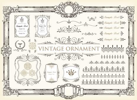 Vintage ornament set 47