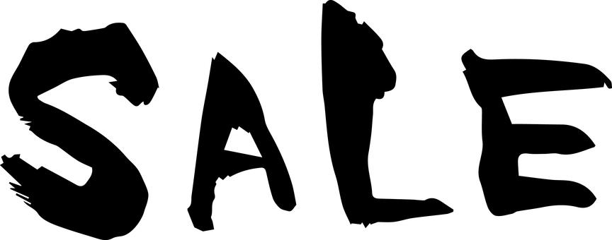 筆字「SALE」