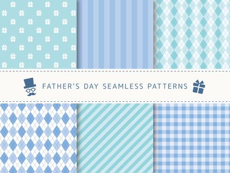 아버지의 날 패턴 세트