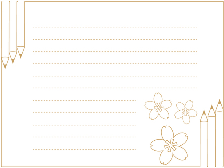 Pencil-patterned stationery 5