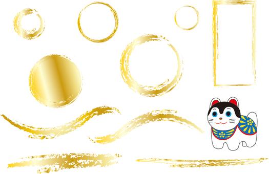 Gold frame and Doggyuko