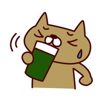 Cat drinking vegetable juice