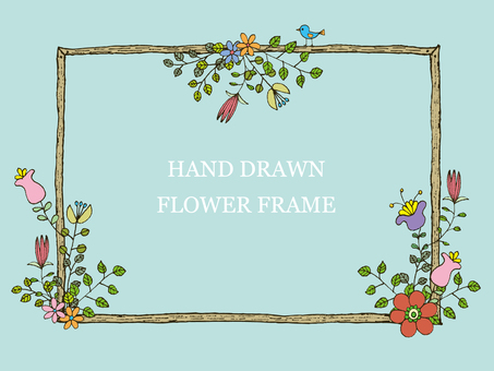 Handwritten flower frame 2