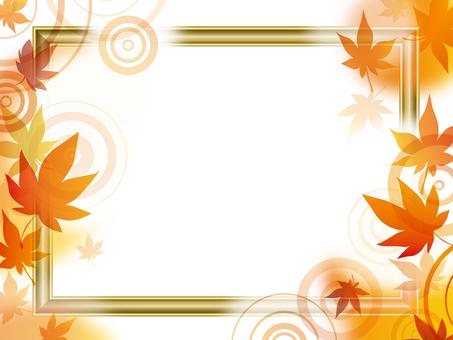 Autumn leaves frame frame
