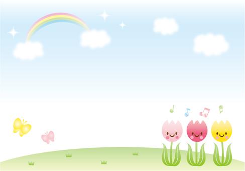 Tulip and Sky, Rainbow and Prairie