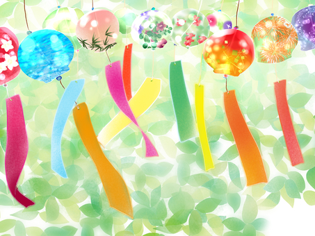 With wind bell background