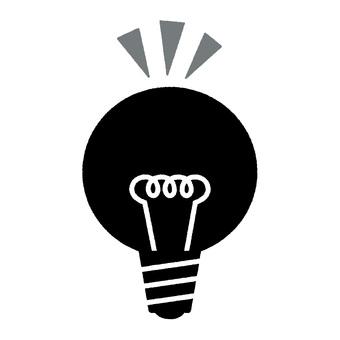 Light bulb monochrome