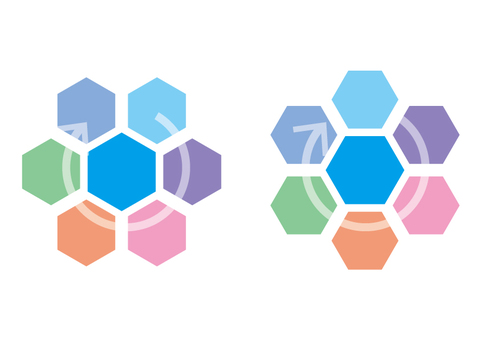 Abstract shapes (hexagon) material